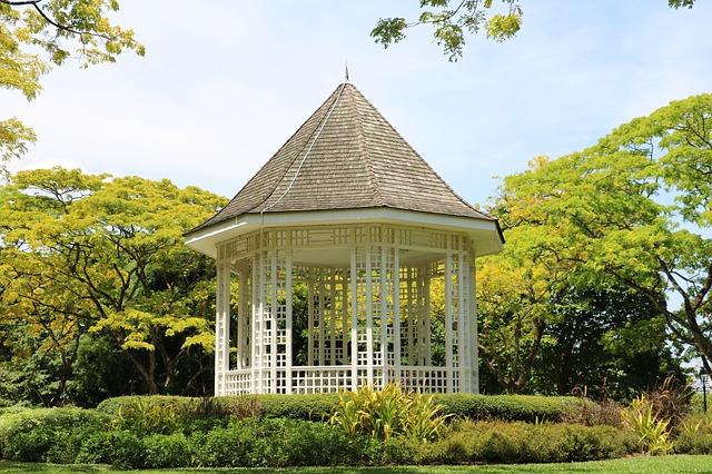 gazebo for drinking tea